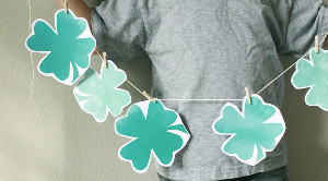 Shamrock Printable Garland