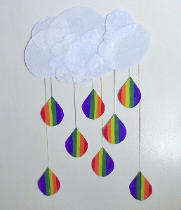 Lucky Paper Rainbow Drops