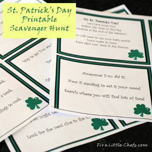 St. Paddy's Day Scavenger Hunt Printable