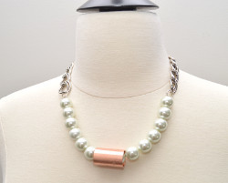 Copper and Pearls Necklace