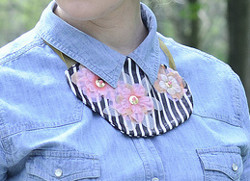 Fabulous Fabric Collar Necklace