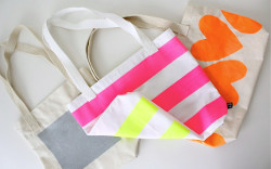 Stripes of Neon Tote