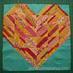 Heart Strings Quilt Block