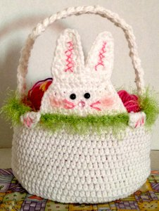 Peek a Boo Rabbit Basket