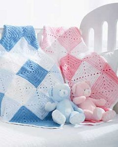 Double Diamond Baby Blanket