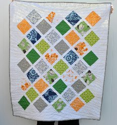 Color Pop Lattice Baby Quilt