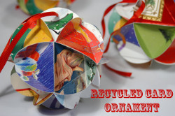 Recycled Card Ornament