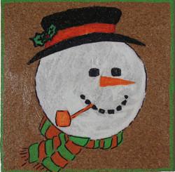 Corky Snowman Coaster