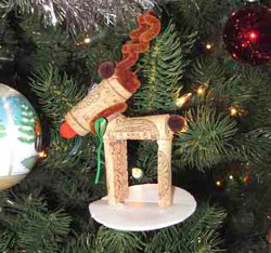 Recycled Reindeer Ornament