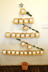 Paper Bag Wall Advent Calendar