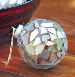 Recycled Disco Ball Ornament
