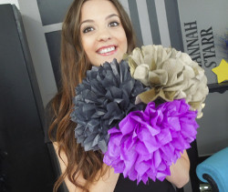 Giant Tissue Paper Flowers Made Easy