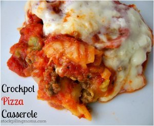 Slow Cooker Pepperoni Pizza Casserole