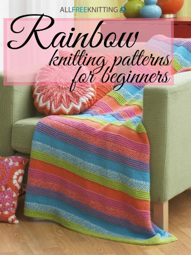 14 Rainbow Knitting Patterns for Beginners