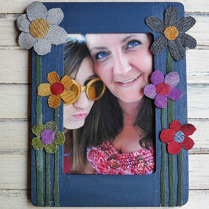 Denim Flower Frame