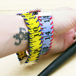 Thrifty Measuring Tape Bracelet