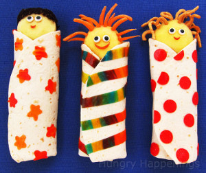 Kids in a Blanket Edible Craft
