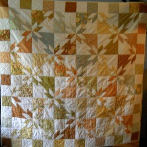 Golden Hunter's Star Quilt