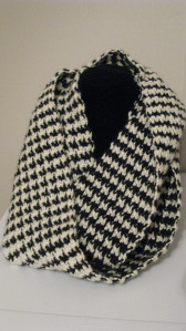 Houndstooth Crocheted Scarf