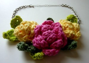 Giant Rose Statement Necklace