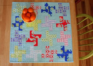 Retro Mini Quilt Table Topper