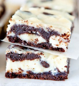 Black and White Cake Bars