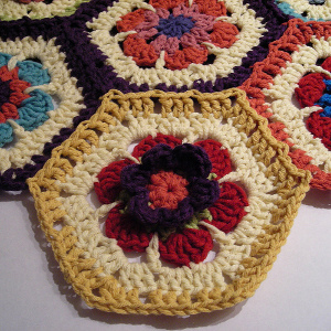 Primrose Crochet Hexagon