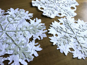 Dried Leaves Snowflakes