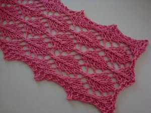 Pink Tea Leaves Scarf