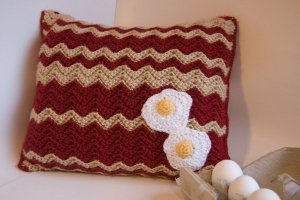 Bacon and Eggs Pillow