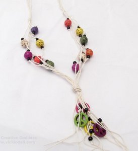 Summer of Love Knotted Hemp Necklace