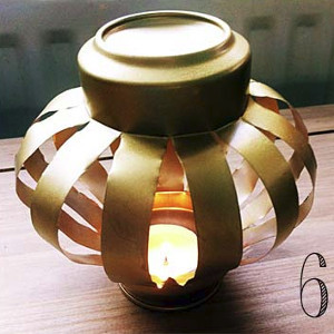 Thrifty tin can lantern for Christmas crafts out of tin cans