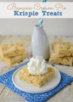 Banana Cream Pie Rice Krispy Treats