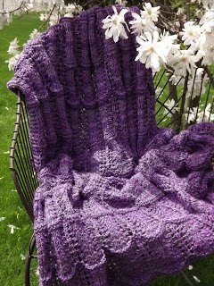 Cathedral Lace Afghan Allfreeknitting Com