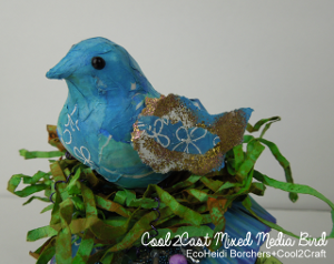 Decoupage Tissue Bird