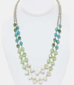 Fading Mirror Bead Necklace