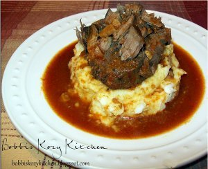 Slow Cooker Roast Beef and Garlic Mashed Potatoes