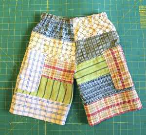 Incredibly Easy Patchwork Shorts