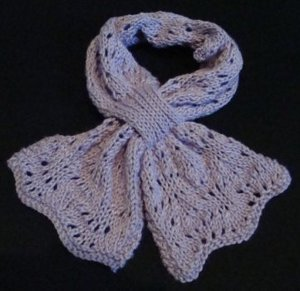 One Skein Butterfly Scarf