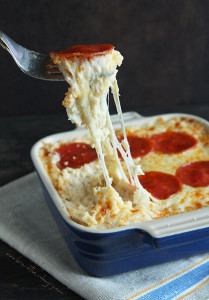 Secret Ingredient Pepperoni Pizza Casserole