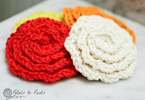 Quick Floral Washcloth
