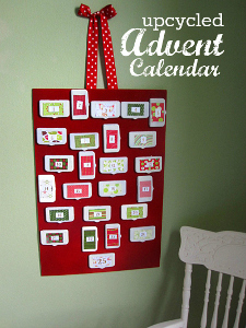 Recycled Materials Advent Calendar