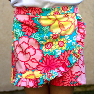 Faux Wrap Shorts