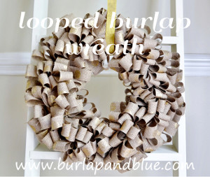 Gold Dotted Burlap Wreath