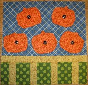 Pumpkin Patch Quilt Block