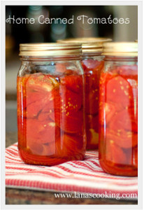 Home Canned Tomatoes