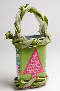 Recycled Cereal Box Christmas Tote