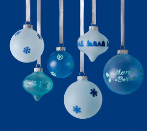 Frosted Glass Ornaments