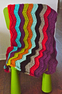 Colorful Chevron Afghan