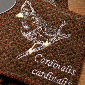Bird Lover Embroidered Coaster